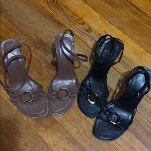 Coach sandals 2 pairs - size 5